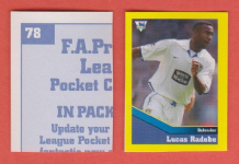 Leeds United Lucas Radebe South Africa 78 BTL